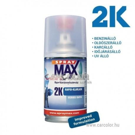 2K Spray Max Rapid Színtelen Lakk Spray - Fényes (250ml)